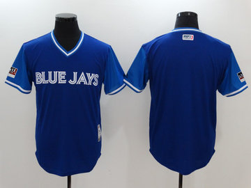 Blue Jays Royal 2018 Players' Weekend Authentic Team Jersey