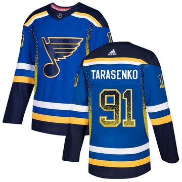 Blues 91 Vladimir Tarasenko Royal Drift Fashion Adidas Jersey