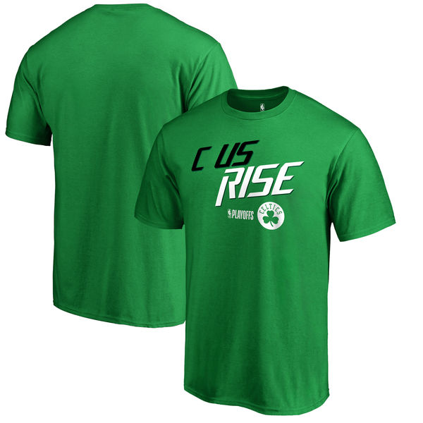 Boston Celtics Fanatics Branded 2018 NBA Playoffs Slogan T-Shirt Green