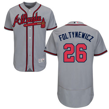 Braves #26 Mike Foltynewicz Grey Flexbase Authentic Collection Stitched Baseball Jersey