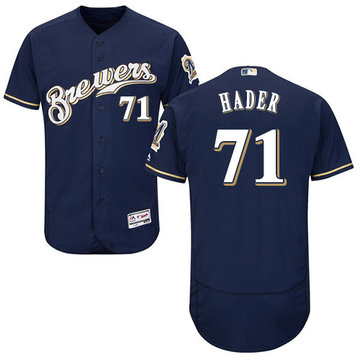 Brewers #71 Josh Hader Navy Blue Flexbase Authentic Collection Stitched Baseball Jersey