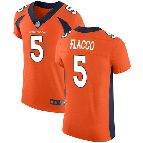 Broncos #5 Joe Flacco Orange Team Color Men's Stitched Football Vapor Untouchable Elite Jersey