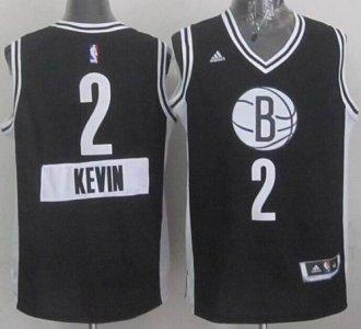 Brooklyn Nets #2 Kevin Garnett Black 2014-15 Christmas Day Stitched NBA Jersey