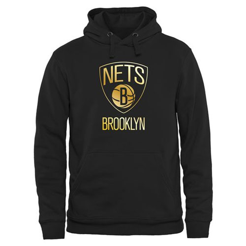 Brooklyn Nets Gold Collection Pullover Hoodie Black