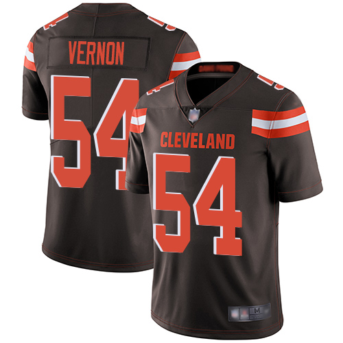 Browns #54 Olivier Vernon Brown Team Color Men's Stitched Football Vapor Untouchable Limited Jersey