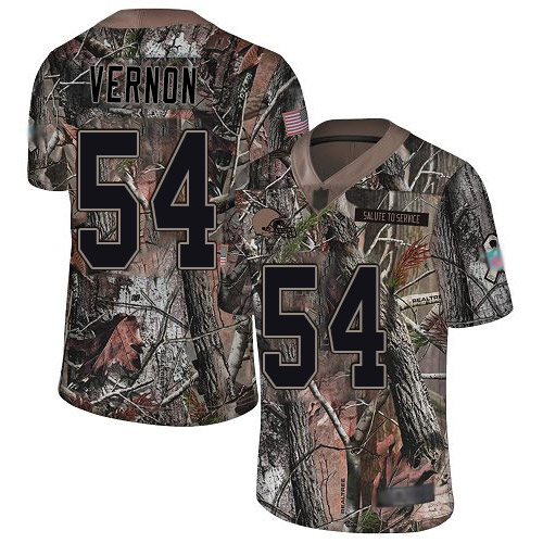 Browns #54 Olivier Vernon Camo Men's Stitched Football Limited Rush Realtree Jersey