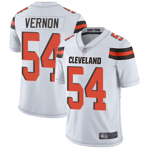 Browns #54 Olivier Vernon White Men's Stitched Football Vapor Untouchable Limited Jersey