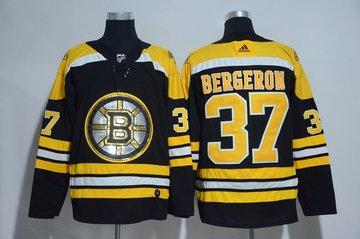 Bruins 37 Patrice Bergeron Black Glittery Edition Adidas Jersey