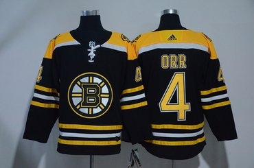 Bruins 4 Bobby Orr Black Adidas Jersey