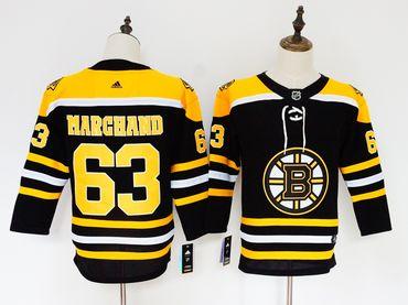 Bruins 63 Brad Marchand Black Women Adidas Jersey
