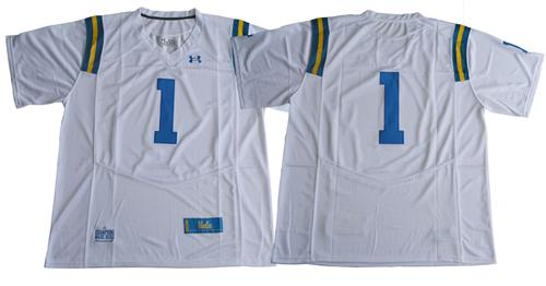 Bruins No.1 Fans White Under Armour Premier Stitched NCAA Jersey