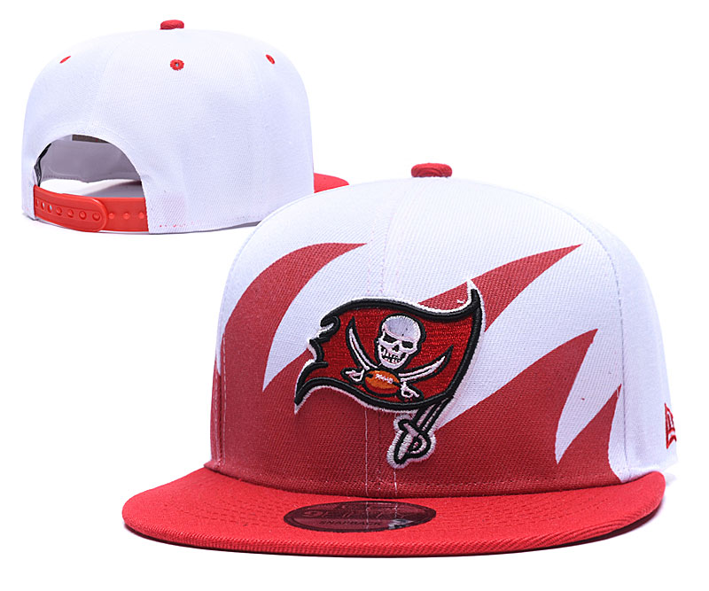 Buccaneers Team Logo White Red Adjustable Hat GS