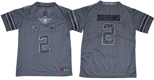 Buckeyes #2 J.K. Dobbins Gray New Alternate Legend Limited Stitched Youth NCAA Jersey