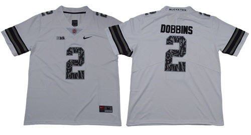 Buckeyes #2 J.K. Dobbins Light Gray Alternate Legend Limited Stitched NCAA Jersey