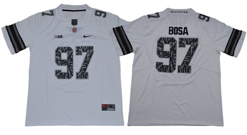 Buckeyes #97 Joey Bosa Light Gray Alternate Legend Limited Stitched NCAA Jersey