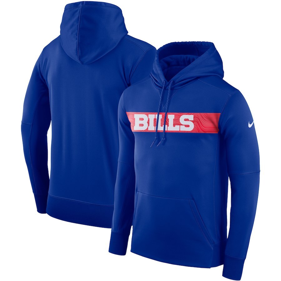 Buffalo Bills Nike Sideline Team Performance Pullover Hoodie Royal