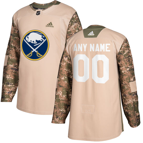 Buffalo Sabres Camo Adidas Veterans Day Custom Practice Jersey