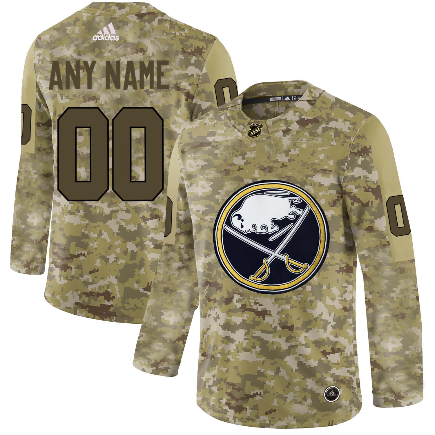 Buffalo Sabres Camo Men's Customized Adidas Jersey
