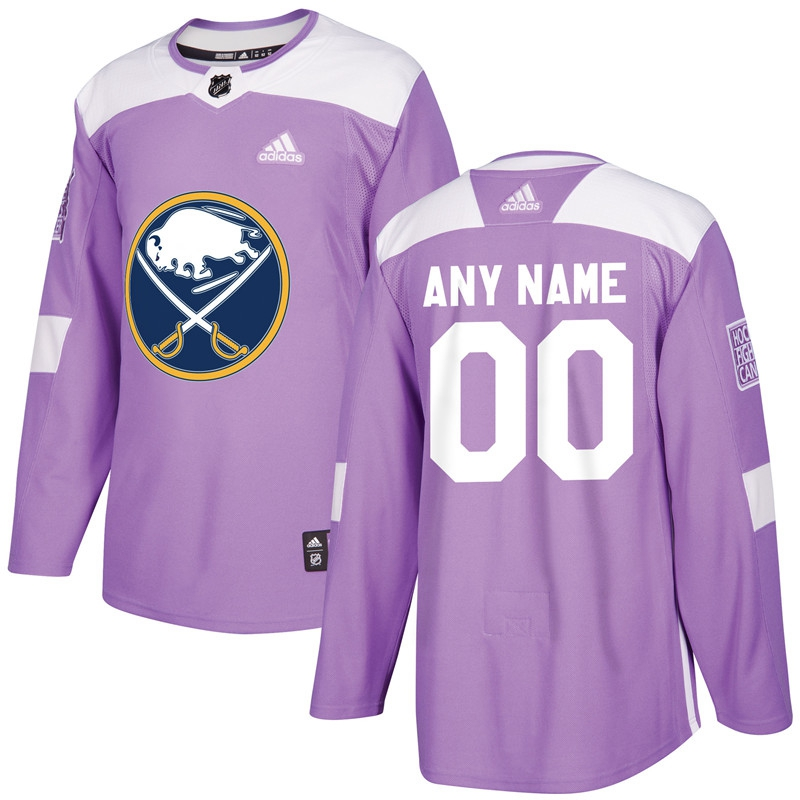 Buffalo Sabres Purple Adidas Hockey Fights Cancer Custom Practice Jersey