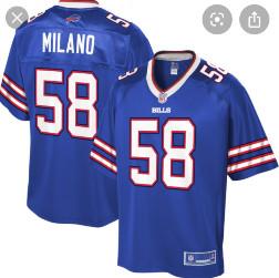 Buffalo bills #58 Milano Blue vapor limited jersey