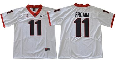Bulldogs #11 Jake Fromm White Limited Stitched NCAA Jersey