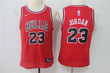 Bulls 23 Michael Jordan Red Youth Nike Swingman Jersey