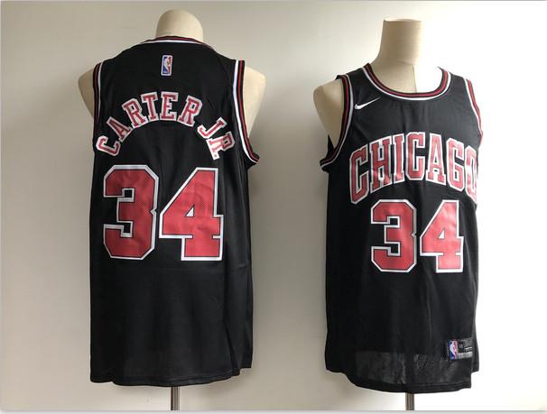 Bulls 34 Wendell Carter Jr. Black Nike Swingman Jersey