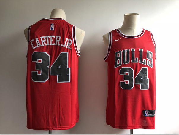 Bulls 34 Wendell Carter Jr. Red Nike Swingman Jersey