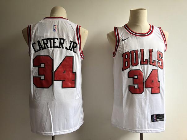 Bulls 34 Wendell Carter Jr. White Nike Swingman Jersey