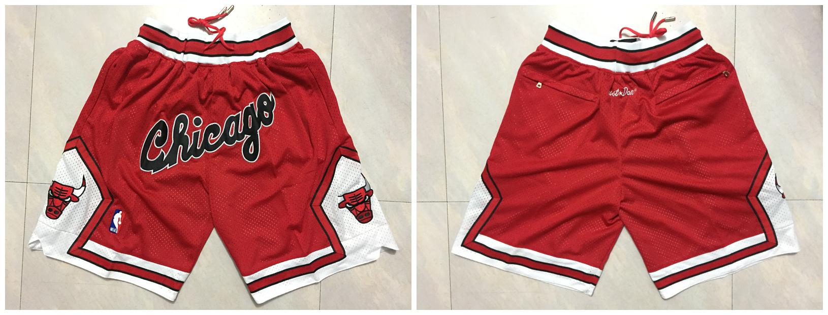 Bulls Red 1997-98 Throwback Shorts