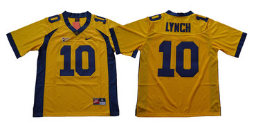California Golden Bears 10 Marshawn Lynch Gold College Football Jersey