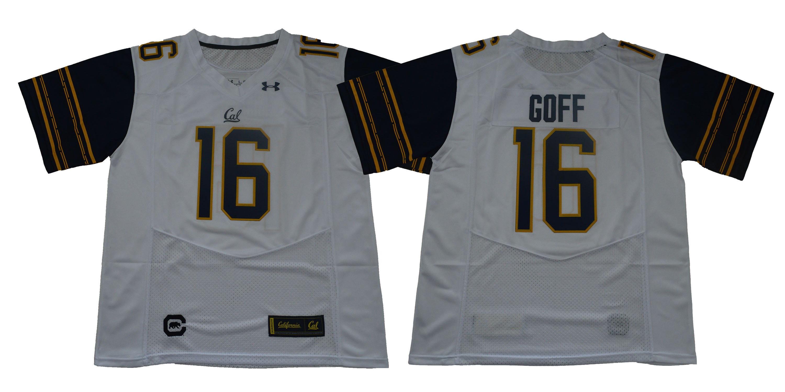 California Golden Bears 16 Jared Goff White College Football Jersey