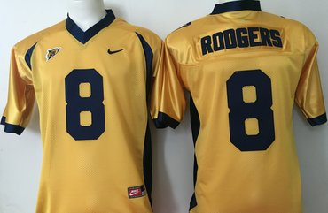California Golden Bears 8 Aaron Rodgers Gold College Football Jersey