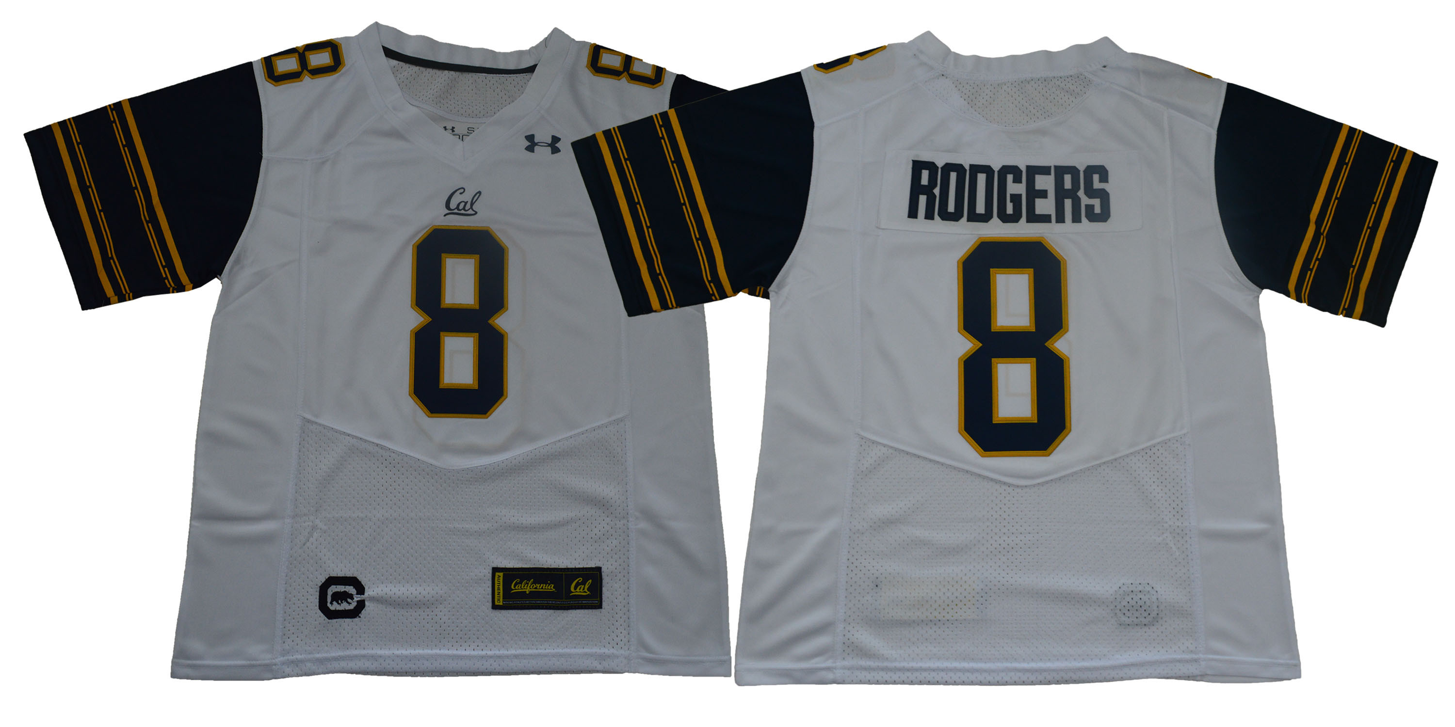 California Golden Bears 8 Aaron Rodgers White College Football Jersey