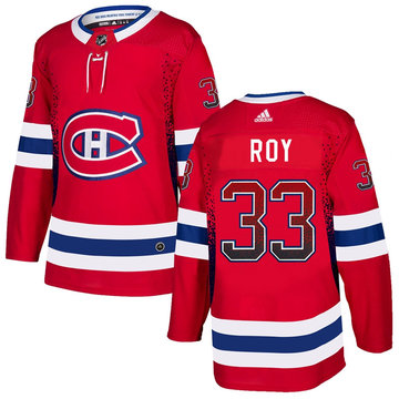 Canadiens 33 Patrick Roy Red Drift Fashion Adidas Jersey