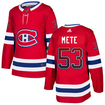 Canadiens 53 Victor Mete Red Drift Fashion Adidas Jersey