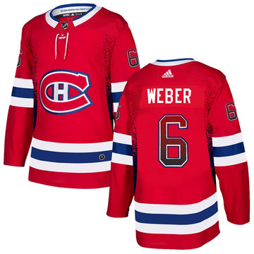 Canadiens 6 Shea Weber Red Drift Fashion Adidas Jersey