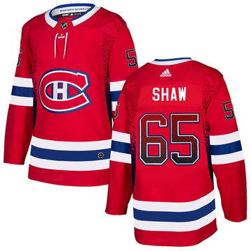 Canadiens 65 Andrew Shaw Red Drift Fashion Adidas Jersey