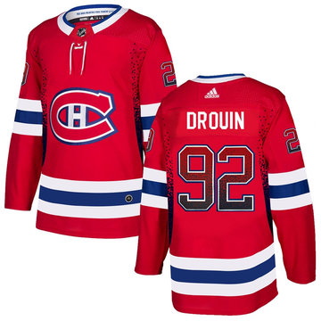 Canadiens 92 Jonathan Drouin Red Drift Fashion Adidas Jersey