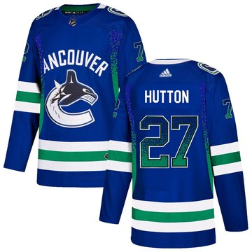 Canucks 27 Ben Hutton Blue Drift Fashion Adidas Jersey