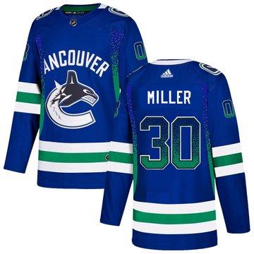 Canucks 30 Ryan Miller Blue Drift Fashion Adidas Jersey