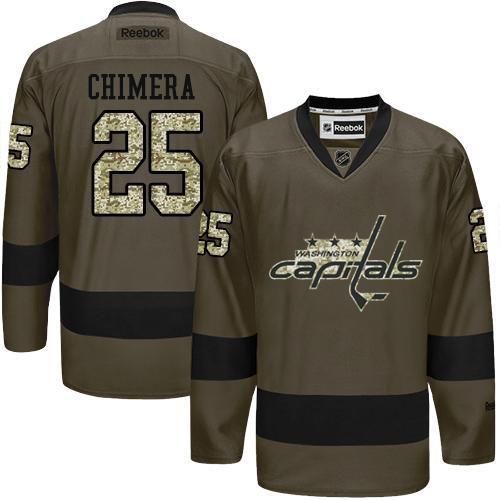 Capitals #25 Jason Chimera Green Salute to Service Stitched NHL Jersey