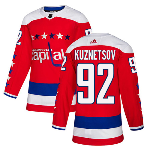 Capitals #92 Evgeny Kuznetsov Red Alternate Authentic Stitched Hockey Jersey
