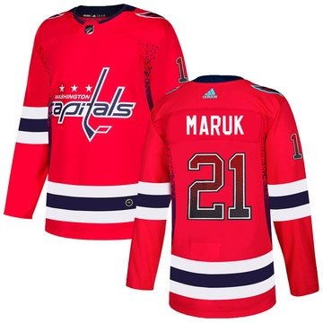 Capitals 21 Dennis Maruk Red Drift Fashion Adidas Jersey