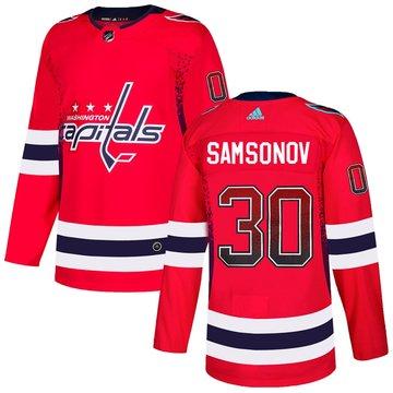 Capitals 30 Ilya Samsonov Red Drift Fashion Adidas Jersey