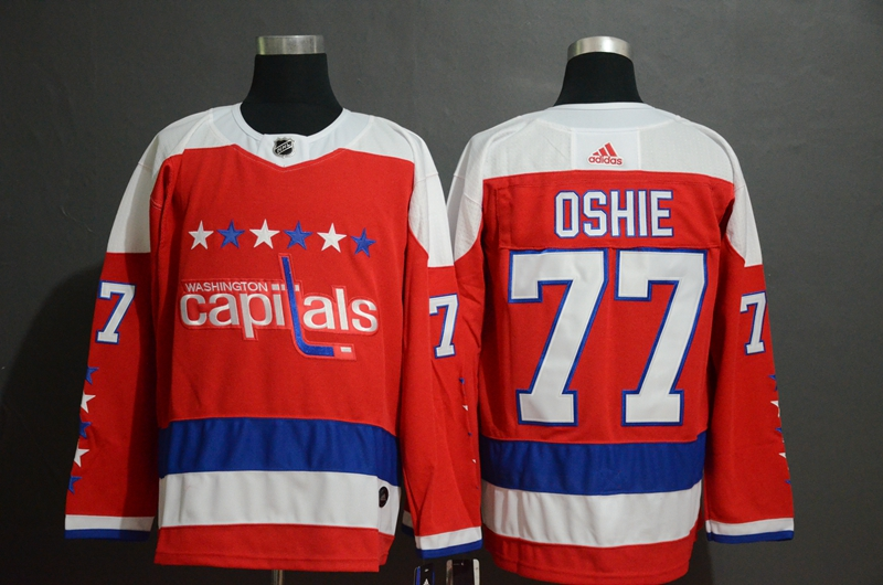 Capitals 77 T.J. Oshie Red Breakaway Adidas Jersey