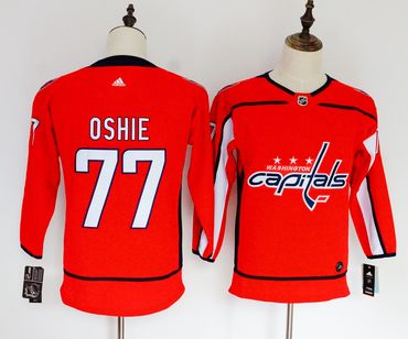 Capitals 77 T.J. Oshie Red Youth Adidas Jersey