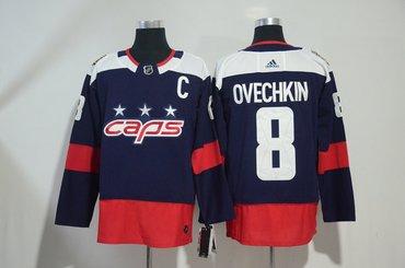 Capitals 8 Alexander Ovechkin Navy 2018 NHL Stadium Series Adidas Jersey