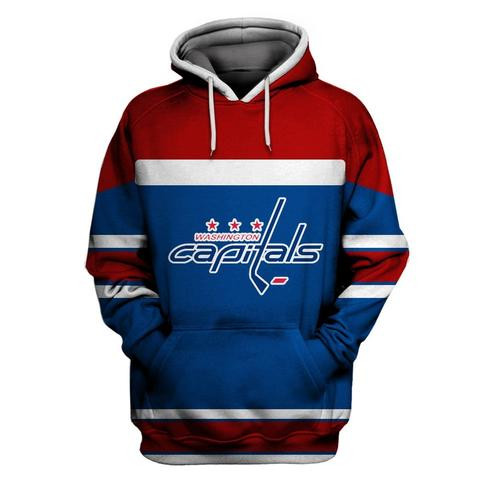 Capitals Blue All Stitched Hooded Sweatshirt