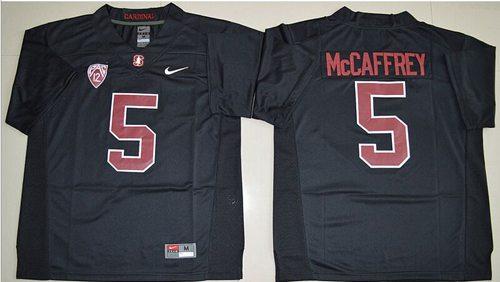 Cardinal #5 Christian McCaffrey Black Stitched NCAA Jersey